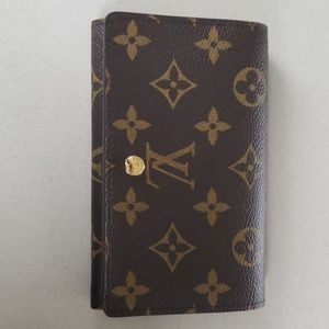 Louis Vuitton Monogram Pte Monn Bill Tresor Wallet